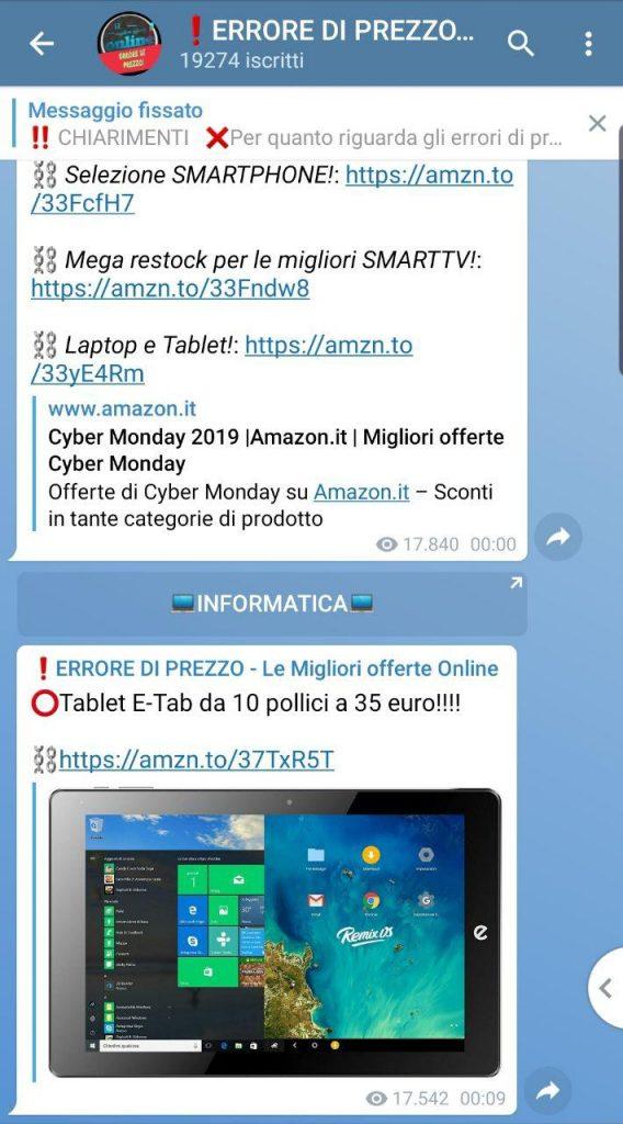 Risparmio su Amazon, ecco arrivato il canale Telegram con i codici sconto Amazon ed alcuni trucchi!