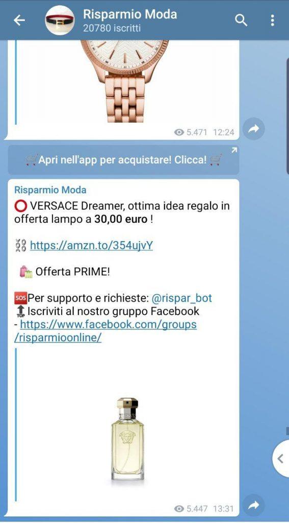 Offerte Moda su Telegram